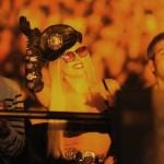 Lady Gaga asiste a un concierto del 'Femme Fatale Tour' de Britney Spears
