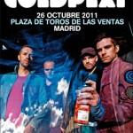 Coldplay actuó anoche en la Plaza de Toros de Las Ventas en Madrid