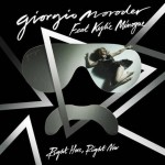 Giorgio Moroder y Kylie Minogue juntos en el vídeo de 'Right Here, Right Now'