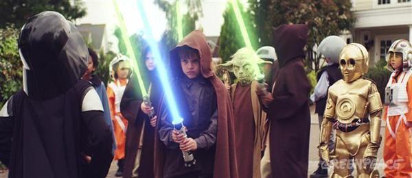 "Frame grab taken from a Greenpeace spoof advert. A legion of seven-year old children armed with light sabers take on Volkswagen, Europes biggest car maker, in a film spoofing a successful viral internet advert. The message in the end of the spoof advert reads ""VW is threatening our planet by opposing cuts to CO2 emissions."""
