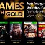 Estos son los Games With Gold de marzo