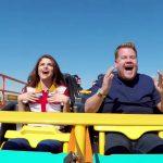 Selena Gomez y James Corden hacen karaoke en montaña rusa
