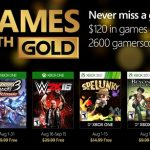 Anunciados los Games with Gold de agosto