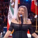 Fergie interpreta el himno nacional y la red se mete a saco con su actuación