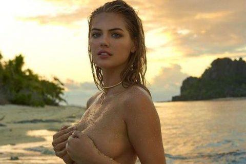 La caída de Kate Upton en topless se hace viral