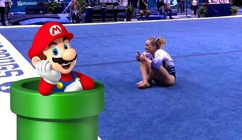 Gimnasia rítmica al ritmo de Super Mario