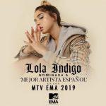Lola Indigo recibe una nominación a Mejor Artista Español en los MTV EMA 2019