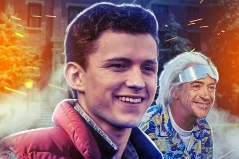 Robert Downey Jr y Tom Holland protagonizan Back to the future